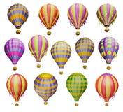 Multicolored air balloons Stock Photos