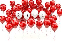 Air balloons with 2014 New Year sign Royalty Free Stock Image