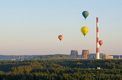 Air balloons over Vilnius Royalty Free Stock Photos