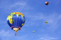 Air balloons rising Stock Image
