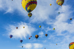 Air balloons rising Royalty Free Stock Image