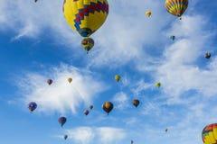 Air balloons rising Royalty Free Stock Image