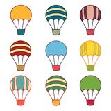 Air balloons samples Royalty Free Stock Image