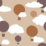 Air balloons seamless pattern Royalty Free Stock Images