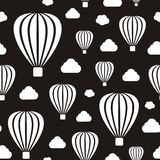 Air balloons seamless pattern Stock Photography