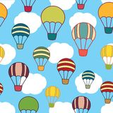 Air balloons seamless texture Stock Image