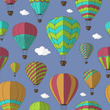 Air Balloons set pattern Royalty Free Stock Photo