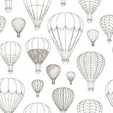 Air Balloons set pattern Stock Photography