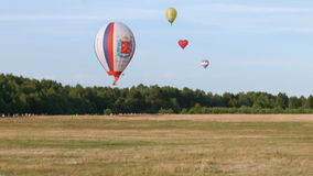 Air balloons in the sky stock video footage