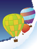 Air balloons in the sky Royalty Free Stock Photos