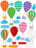 Air Balloon Set_eps. Illustration of design air balloon set on white background. --- This .eps file info Version: Illustrator 8 EPS Document: 9 * 12 Inches ( stock illustration