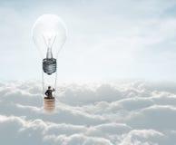 Air baloon with lamp stock photos