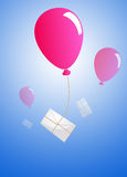 Air baloon mailing Royalty Free Stock Photography