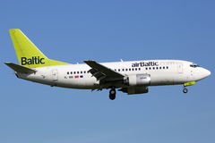 Air Baltic Boeing 737-500 airplane Royalty Free Stock Images