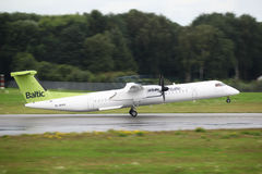 Air Baltic Bombardier Dash 8 Royalty Free Stock Photo