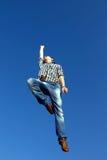 air banhoppningmannen Royaltyfri Fotografi