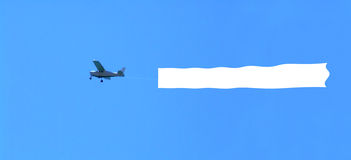 Air with banner message Stock Image