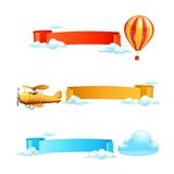 Air banners. Computer illustration on white background Royalty Free Stock Photos
