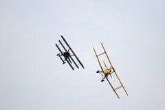 Air battle - at La Comina 100 anniversary Royalty Free Stock Images