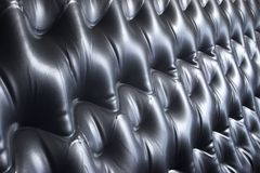 Air Bed Abstract. View of a vinyl inflatable mattress royalty free stock photo