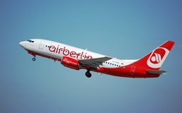Air Berlin 737 Photos libres de droits
