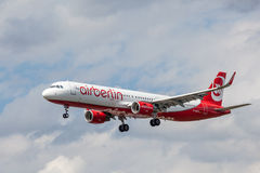 Air Berlin Aerobus A321 Fotografia Royalty Free
