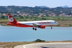 Air Berlin Airbus A320 landing Stock Images