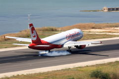 Air Berlin Airbus landing Stock Photo