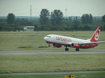 Air Berlin aircraft taking off Stock Photos