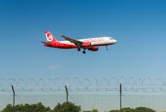 Air Berlin arquivou para a falência em agosto após meses do boato Imagens de Stock Royalty Free