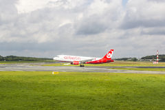 Air Berlin Boeing 737 lands Stock Images
