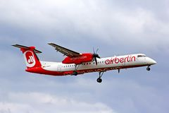 Air Berlin Bombardier De Havilland DHC-8 Q400 Photographie stock