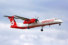 Air Berlin Bombardier De Havilland DHC-8 Q400 Royalty Free Stock Image