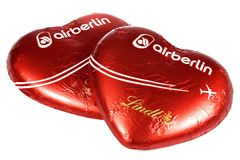 Air Berlin czekolady serca Obrazy Royalty Free