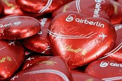Air Berlin czekolady serca Fotografia Royalty Free