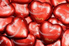 Air Berlin czekolady serca Obraz Royalty Free