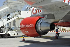 Air-Berlin Plane. During boarding at the airport of Catania,Sicily, Italia Stock Photography