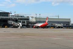 Air Berlin Plane. An Air Berline Plane at Stuttgart Airport Royalty Free Stock Image