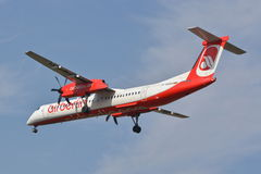 Air Berlin plane view Royalty Free Stock Photography