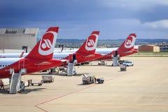 Air Berlin samoloty przy Palmą de Mallorca zdjęcia royalty free