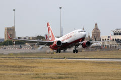 Air Berlin on take off Royalty Free Stock Photo