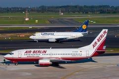 Air Berlin y Lufthansa Fotografía de archivo