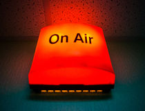 ON AIR board message Royalty Free Stock Image