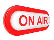 ON AIR board warning message Royalty Free Stock Photos