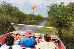 Air boat tour of the Everglades Royalty Free Stock Photos
