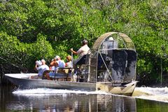 Air Boat in the tropical Everglades Royalty Free Stock Photos