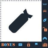 Air Bomb icon flat vector illustration