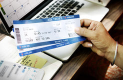 Air Booking Airline Ticket Concept. Air Booking Airline Ticket Reservation stock photography