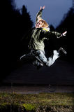 Air branchant la nuit Images libres de droits
