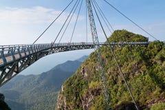 Air Bridge in Malaysia. Hanging bridge of Langkawi island, Malaysia stock image
